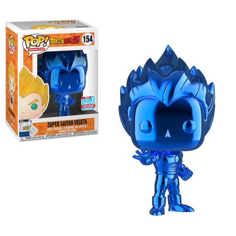 Pop! Vinyl - Dragon Ball Z - Super Saiyan Vegeta Blue Chrome NYCC 2018 Exclusive Funko - TOYBOT IMPORTZ