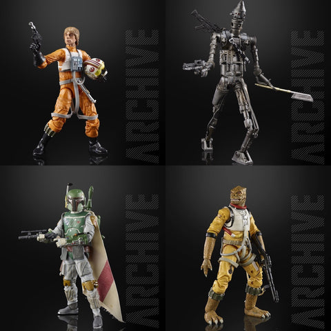Star Wars - The Black Series Archive Wave 1 Set of 4 HASBRO - TOYBOT IMPORTZ