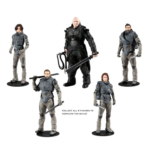 McFarlane Toys - Dune [2020] Set of 4 Action Figures (Build-a-Beast Rabban)