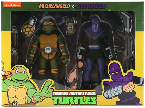 TMNT - Michelangelo vs Foot Soldier Action Figure 2-pack