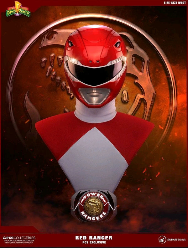Power Rangers - Red Ranger Life Sized Bust PCS Exclusive