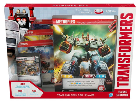 Transformers - Trading Card Game - Metroplex Deck Wizards of the Coast - TOYBOT IMPORTZ