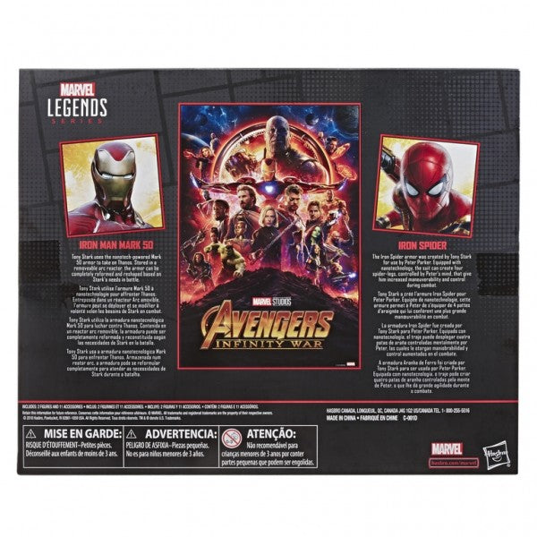 Marvel Legends - 80th Anniversary: Iron Man Mk50 and Iron Spider HASBRO - TOYBOT IMPORTZ