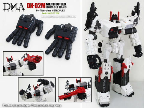DNA Design- DK-02M - Metroplex Add on kit - TOYBOT IMPORTZ