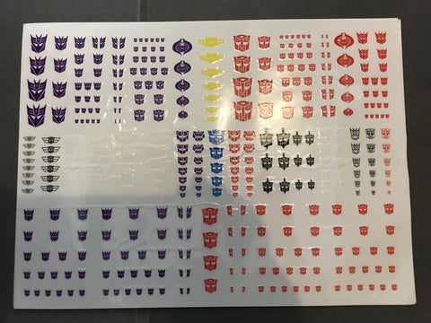 Hasbro - Transformers Faction Stickers - TOYBOT IMPORTZ