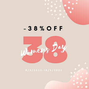 Women's Day 38% off promo