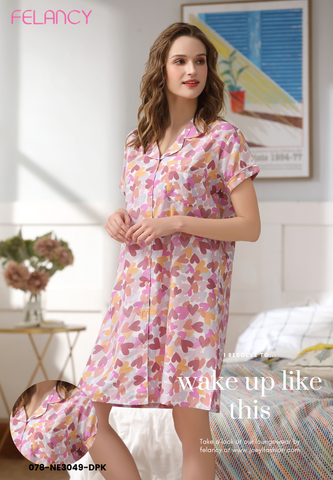 Pyjamas Dress with sweet love print