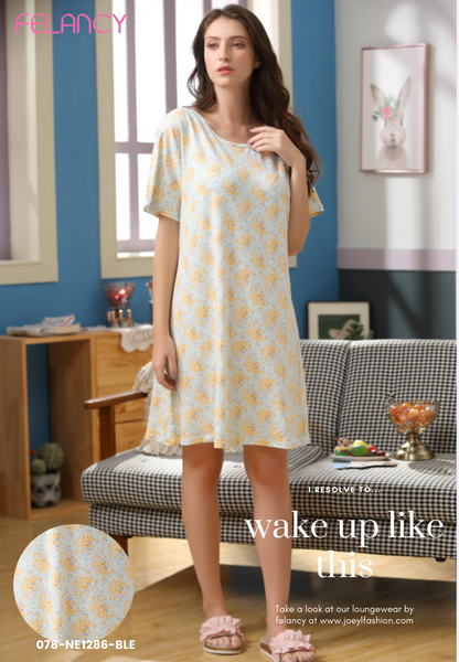 Cosy microfibre Dress with floral print