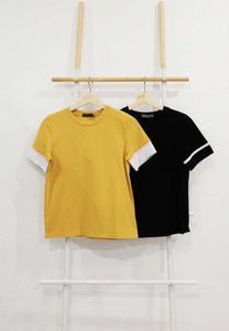 【17】Casual – Sporty Rib Tee in Mustard