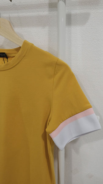 Casual – Sporty Rib Tee in Mustard