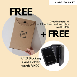 FREE BOX + RFID Blocking Card Holder