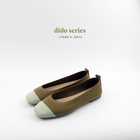Dido Round Toe Flat in coffee