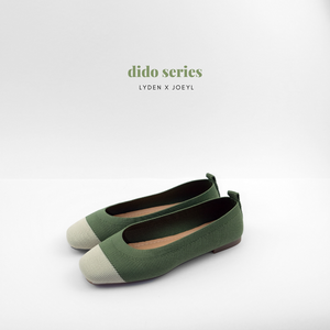 Dido Round Toe Flat in Green
