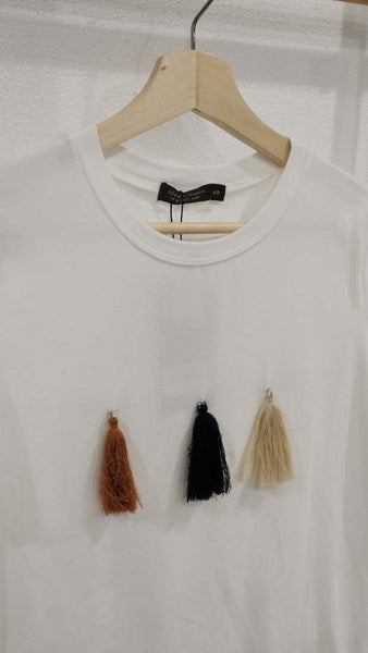 [FREE]Casual – Tassel Tee in White