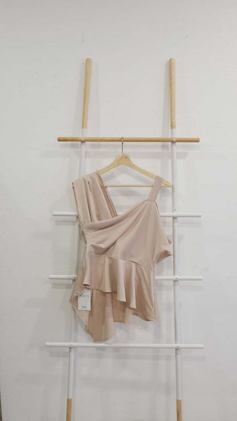 Drape Top in Beige