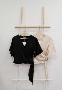 Wrap Top in Black