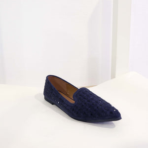 Dazzle Flat in Navy Blue