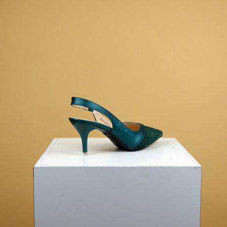 Slingback Heels in Green
