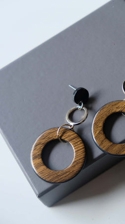 Joeyl Earings in Brown