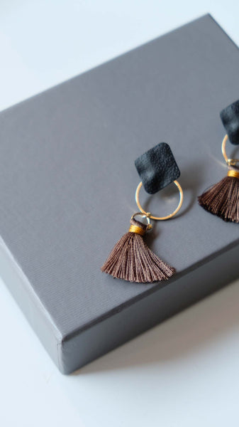 Joeyl Earing set in Brown