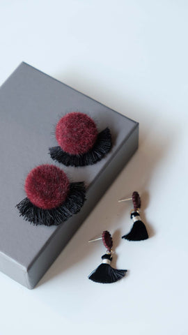 Joeyl Earing set in Maroon