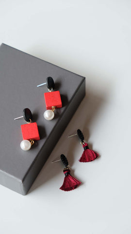 Joeyl Earing set in Red