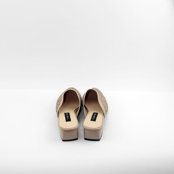 Mira Pointed Toe Slip-Ons flats in Apricot
