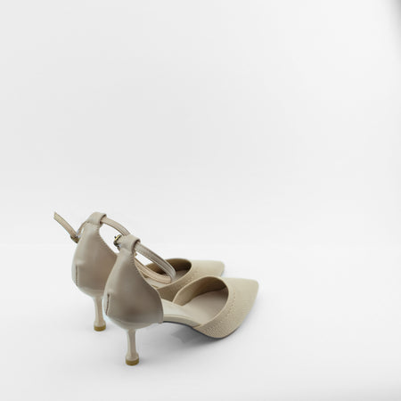 Mira Pointed Toe heels in Beige