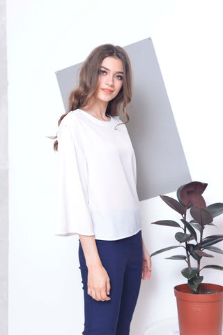 Casual -Kalina Top in White