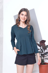 Basics-Ayanna Top in Green