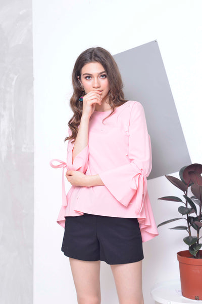 Basics-Caine Top in Pink