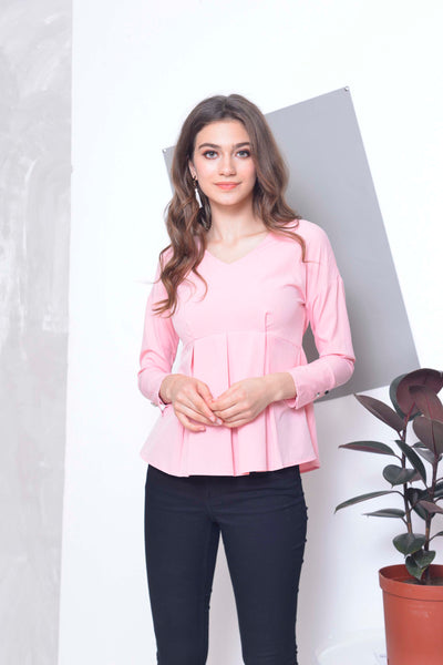 Basics-Ayanna Top in Pink