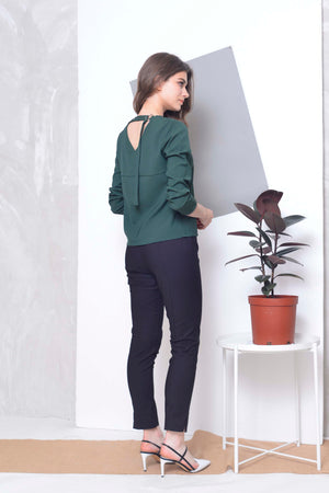 Collections-Arina Top in Green