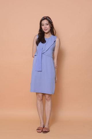 Collection-Ribbon tier dress in Blue