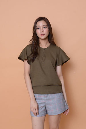 Lyden-2 layer top in Green