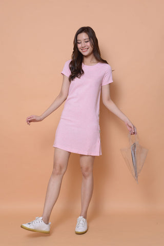 Collection-A- line dress in pink