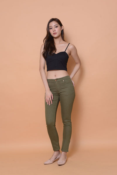 Collection-Stretchable cotton jeans in Green