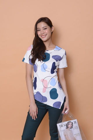 Collection-Abstract prints top  in white
