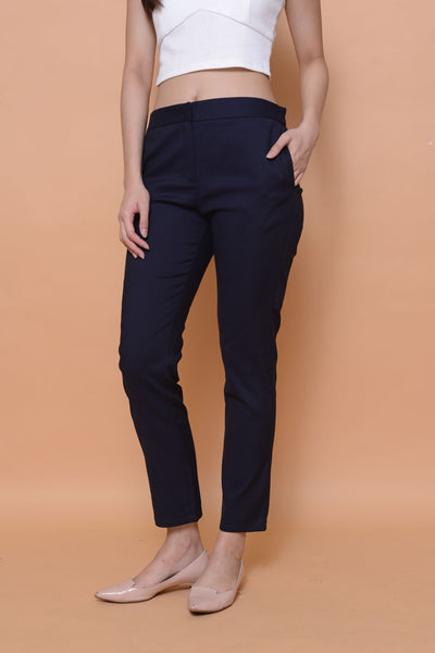 Collection- Daily tab details trousers in Navy