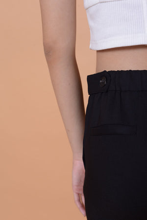 Collection- Daily tab details trousers in black