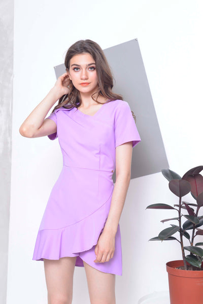 [FREE]Collections-Oliver Dress in Puple