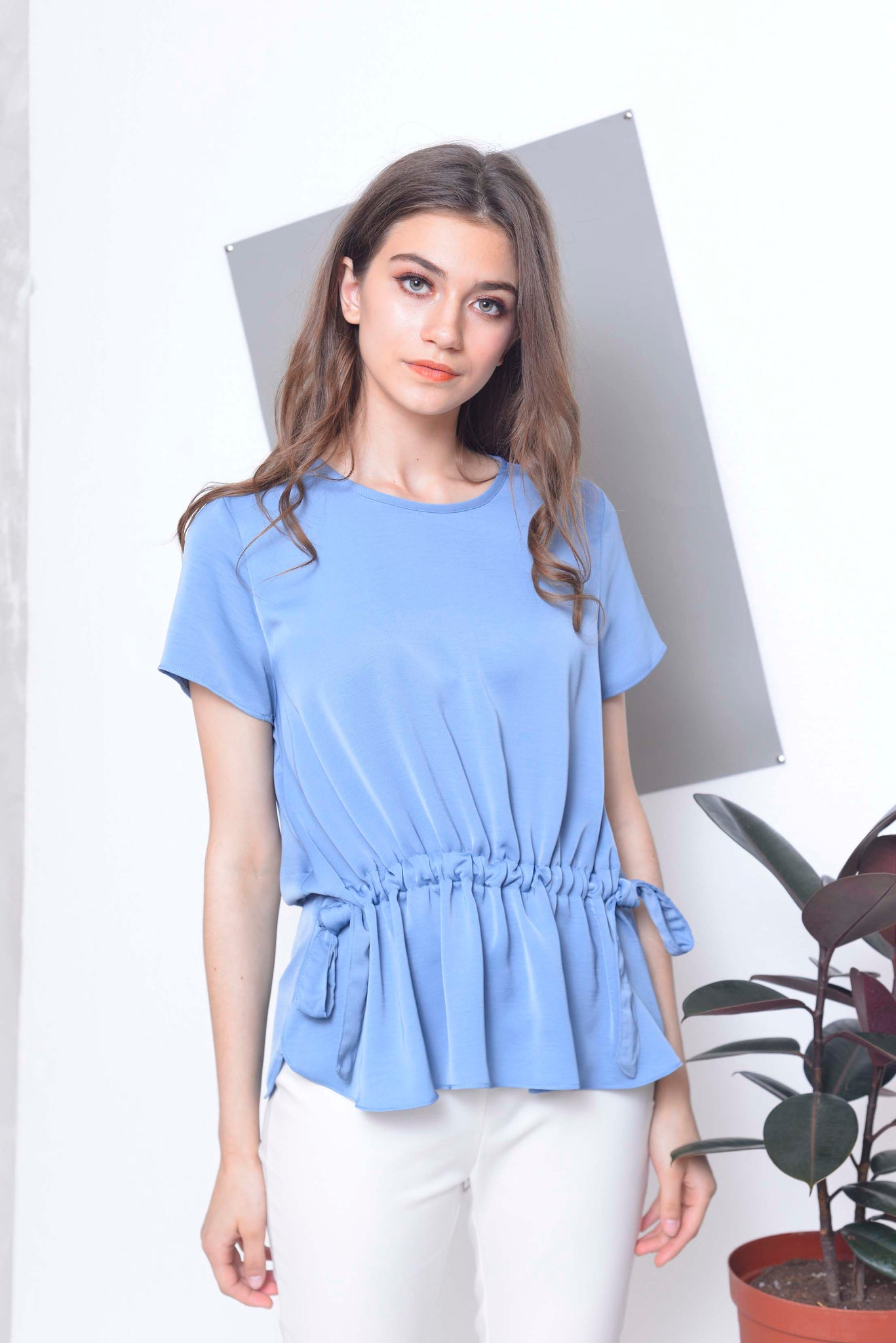 Basics-Arya Top in Blue