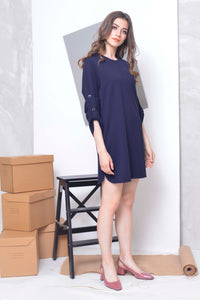 Basics-Joya Dress in Navy