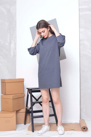 Basics-Joya Dress in Grey