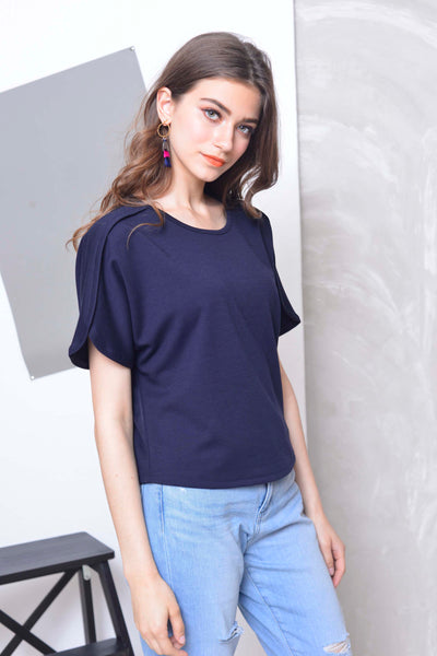 Basics-Joya Top in  Navy