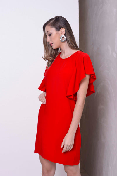 CASUAL-Kaiya Dress in Red