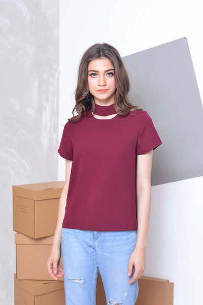 Basics- Zhara Top in Maroon
