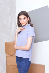 Basics- Zhara Top in  Blue