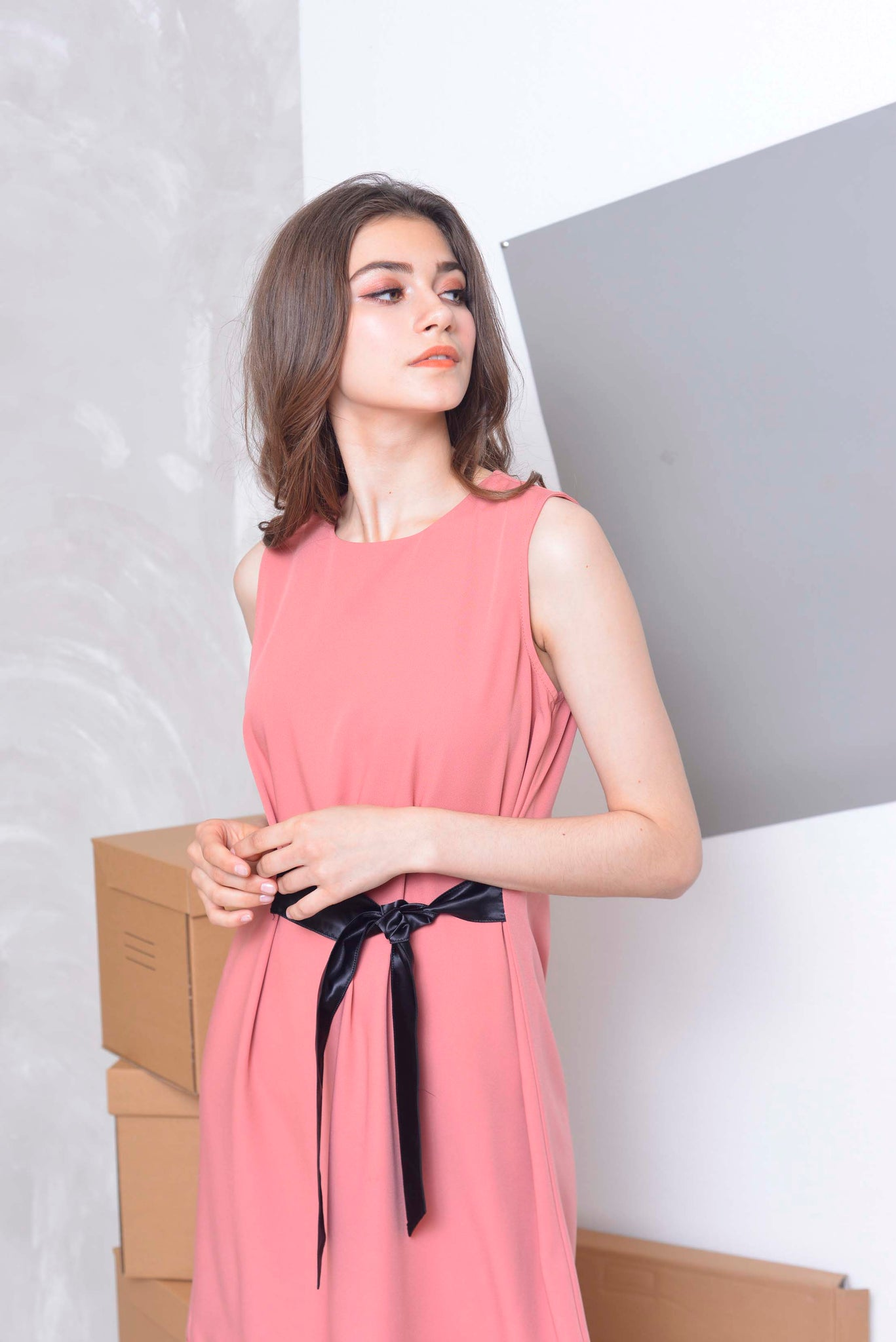Basics-Issa Dress in Pink