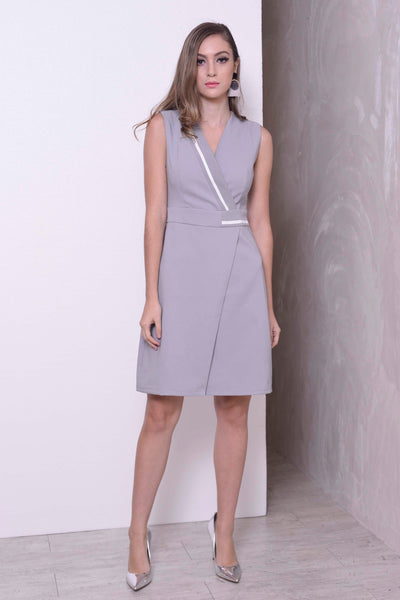 COLLECTIONS-Fulria Dress in Grey